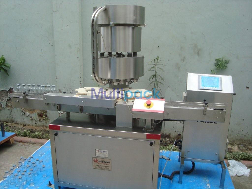 Automatic Eight Head Aluminium Vial Cap Sealing Machine – 200V GMP Model