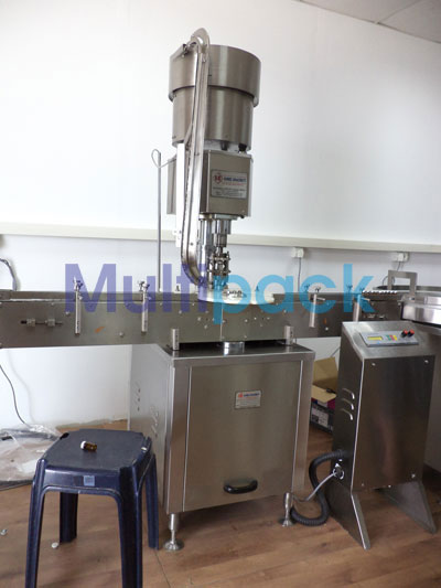 Automatic Single Head Aluminum Vial Cap Sealing Machine – 60V GMP Model