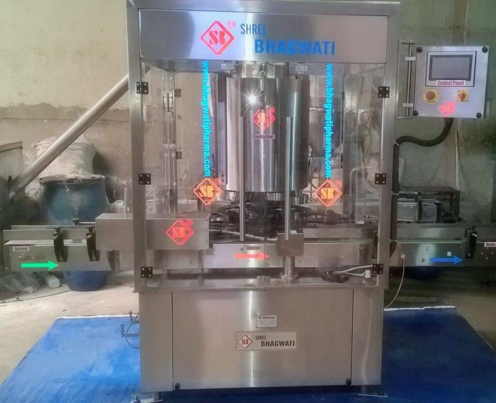 pick and place bottle screw capping machine